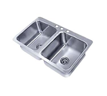 Advance Tabco SS-2-3321-12 sink, drop-in