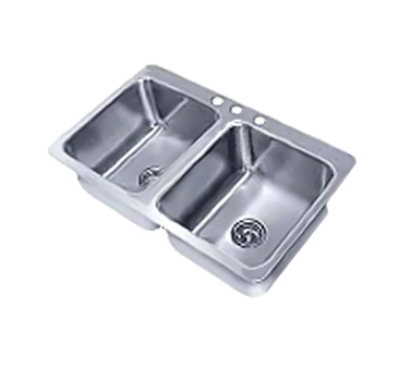 Advance Tabco SS-2-4521-12 sink, drop-in