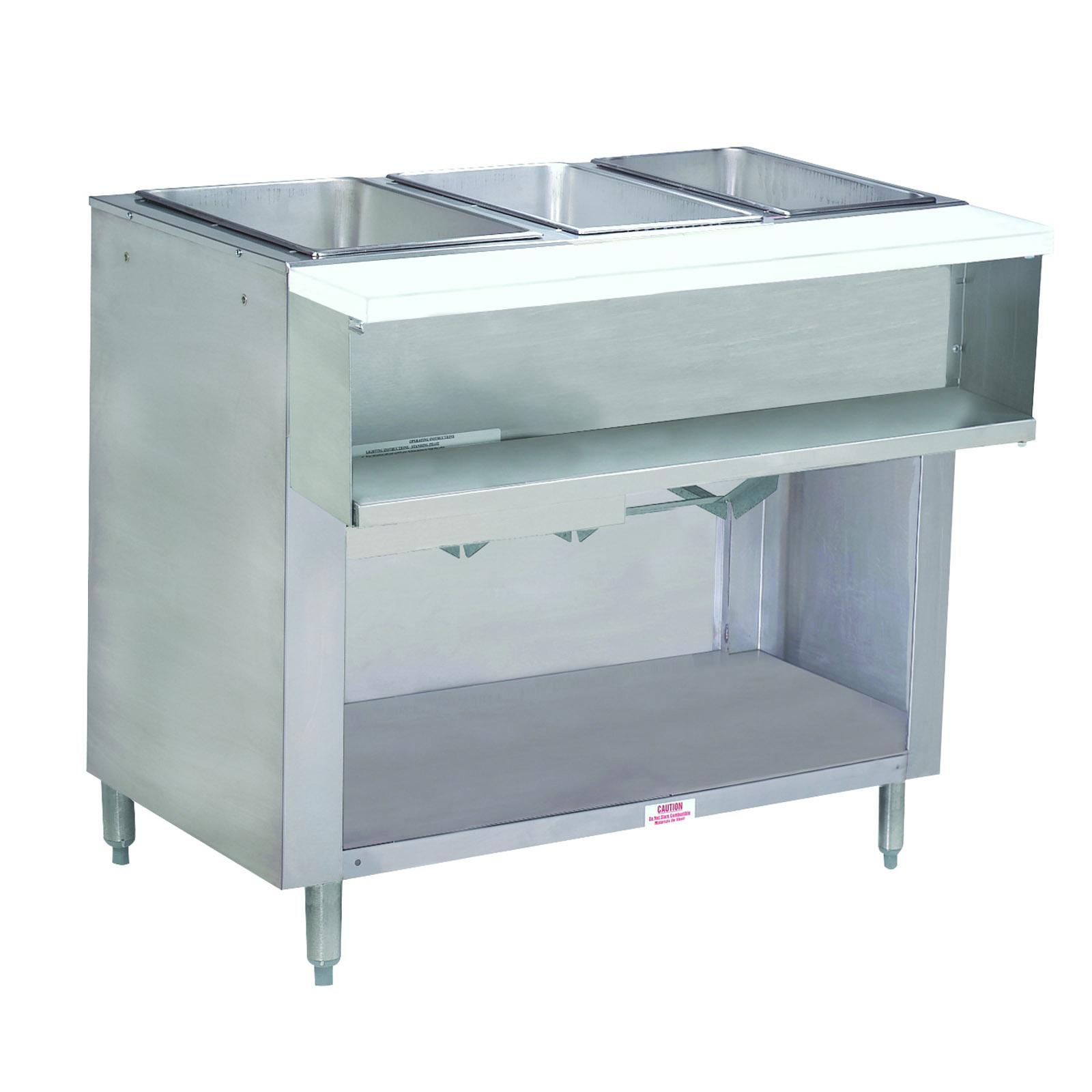 Advance Tabco WB-3G-NAT-BS serving counter, hot food, gas