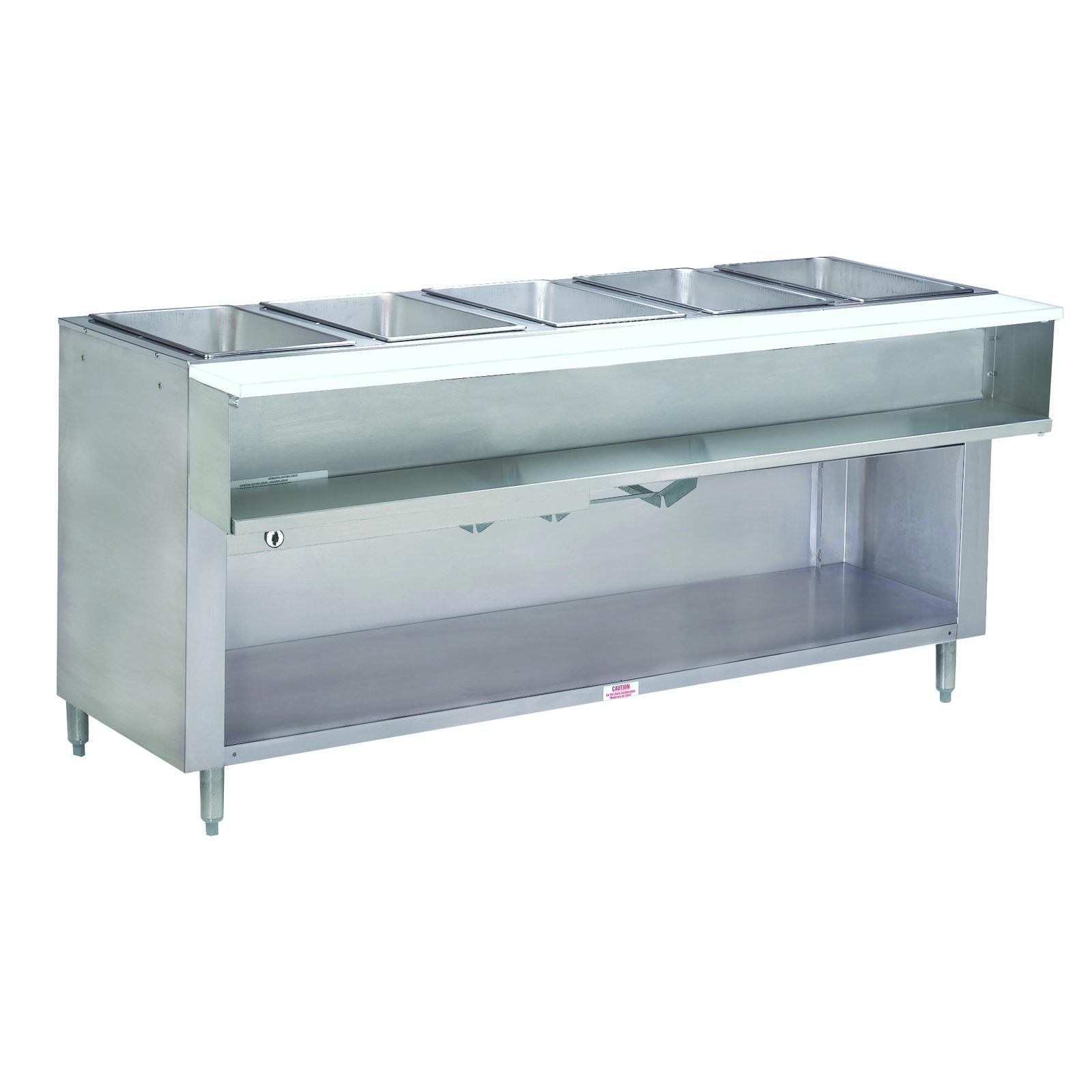 Advance Tabco WB-5G-NAT-BS serving counter, hot food, gas