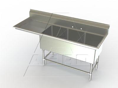 AERO Manufacturing 2F3-3020-36L sink, (3) three compartment