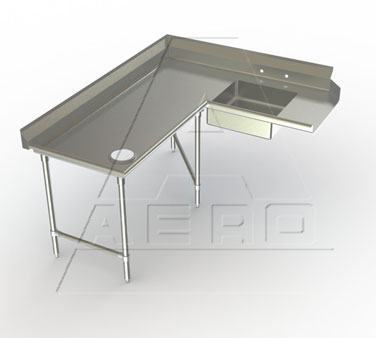 2SDC-L-72 AERO Manufacturing dishtable, soiled
