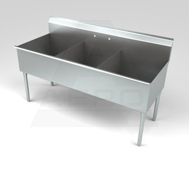 AERO Manufacturing 3S3-2424 sink, (3) three compartment