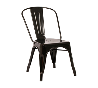AAA Furniture Wholesale 318-BLK chair, side, stacking, outdoor