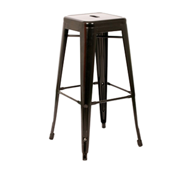 AAA Furniture Wholesale 318BS-BCKLSS-BLK bar stool, stacking, outdoor