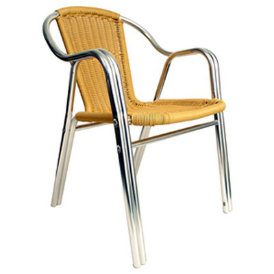 AAA Furniture Wholesale AL-C/NATURAL chair, armchair, outdoor