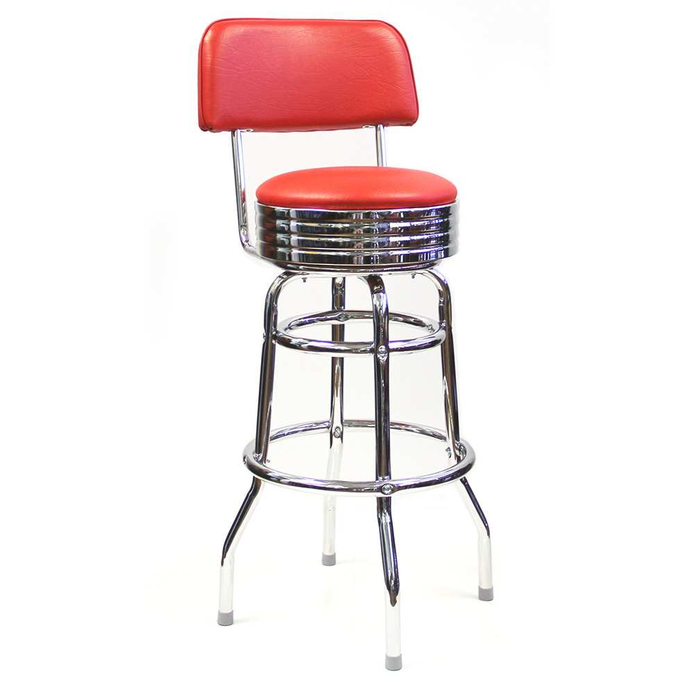 AAA Furniture Wholesale DRB/BACK BAND bar stool, indoor