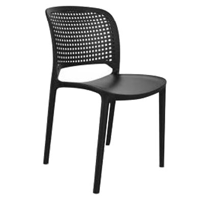 AAA Furniture Wholesale HAPPY SQUARES/BLACK chair, side, outdoor