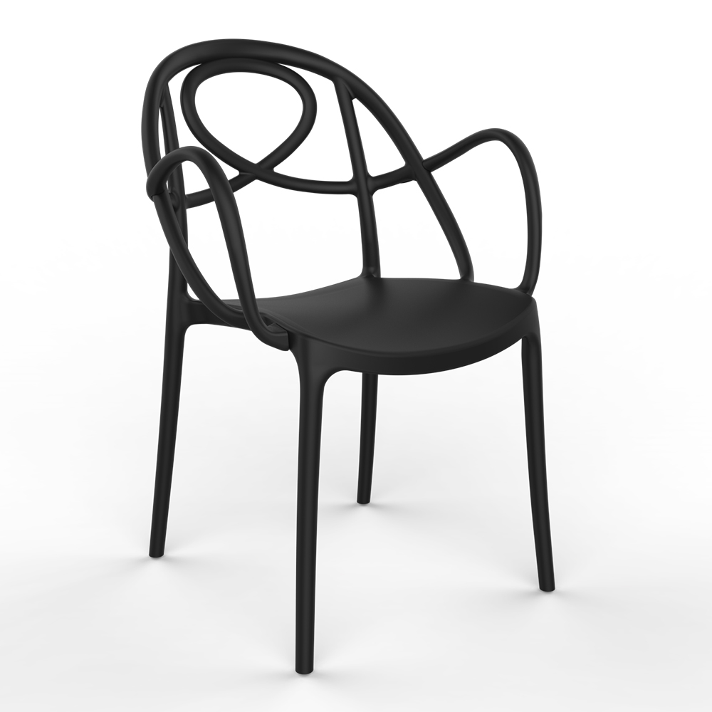AAA Furniture Wholesale TWISTER/BLACK chair, armchair, outdoor