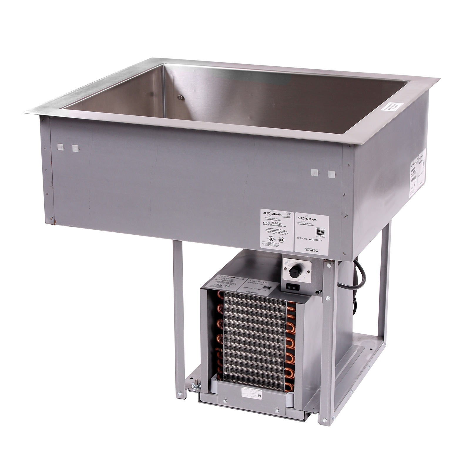 Alto-Shaam 200-CW/R cold food well unit, drop-in, refrigerated