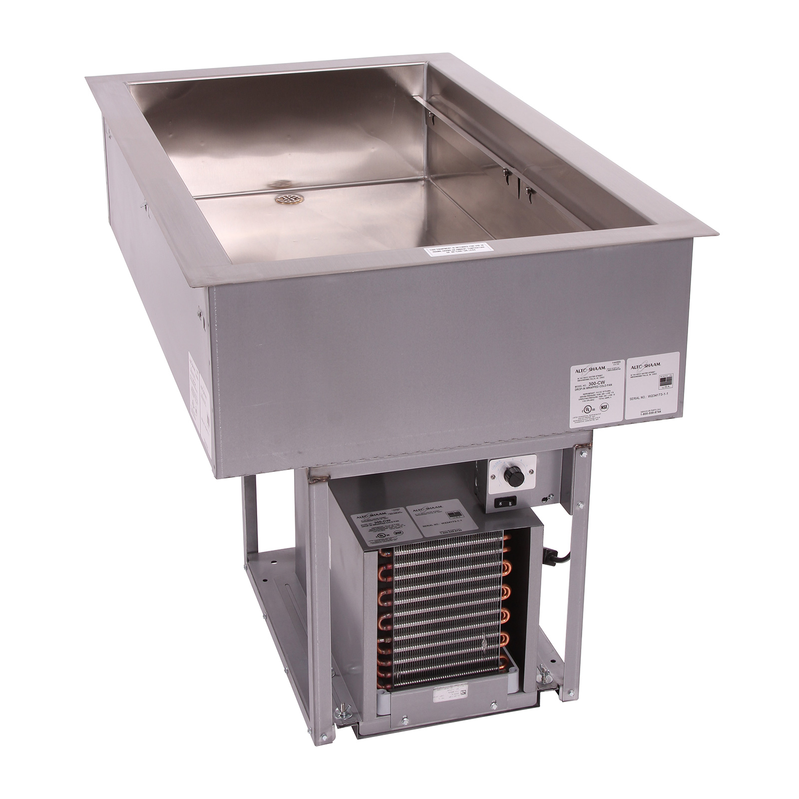 Alto-Shaam 300-CW cold food well unit, drop-in, refrigerated