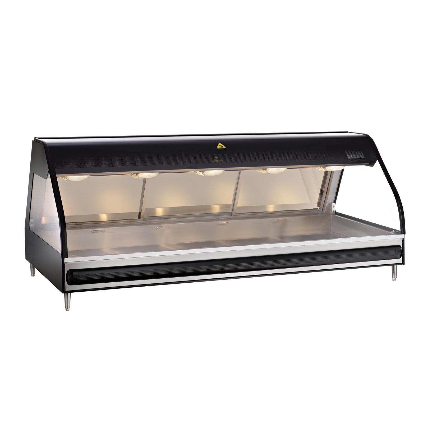 Alto-Shaam ED2-72-BLK display case, heated deli, countertop