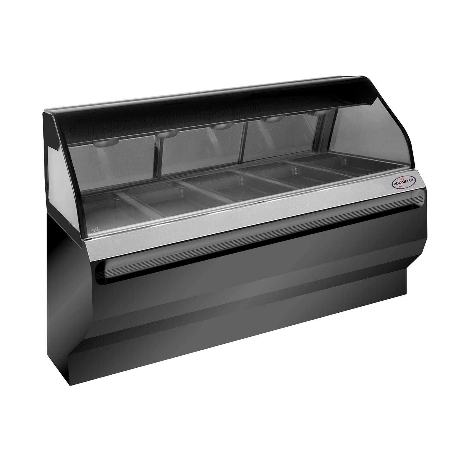 Alto-Shaam ED2SYS-72/P-BLK display case, heated deli, floor model