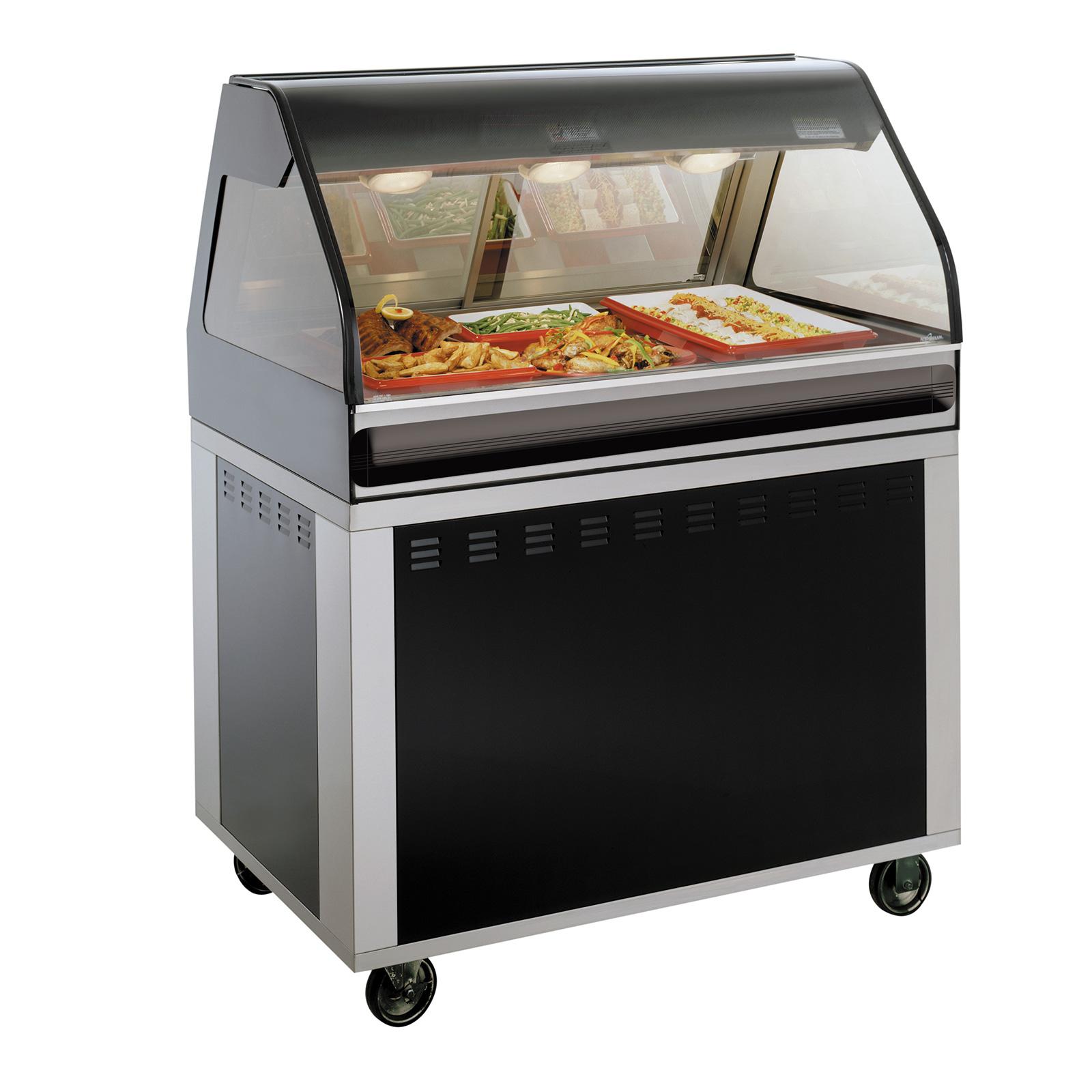 Alto-Shaam EU2SYS-48-BLK display case, heated deli, floor model