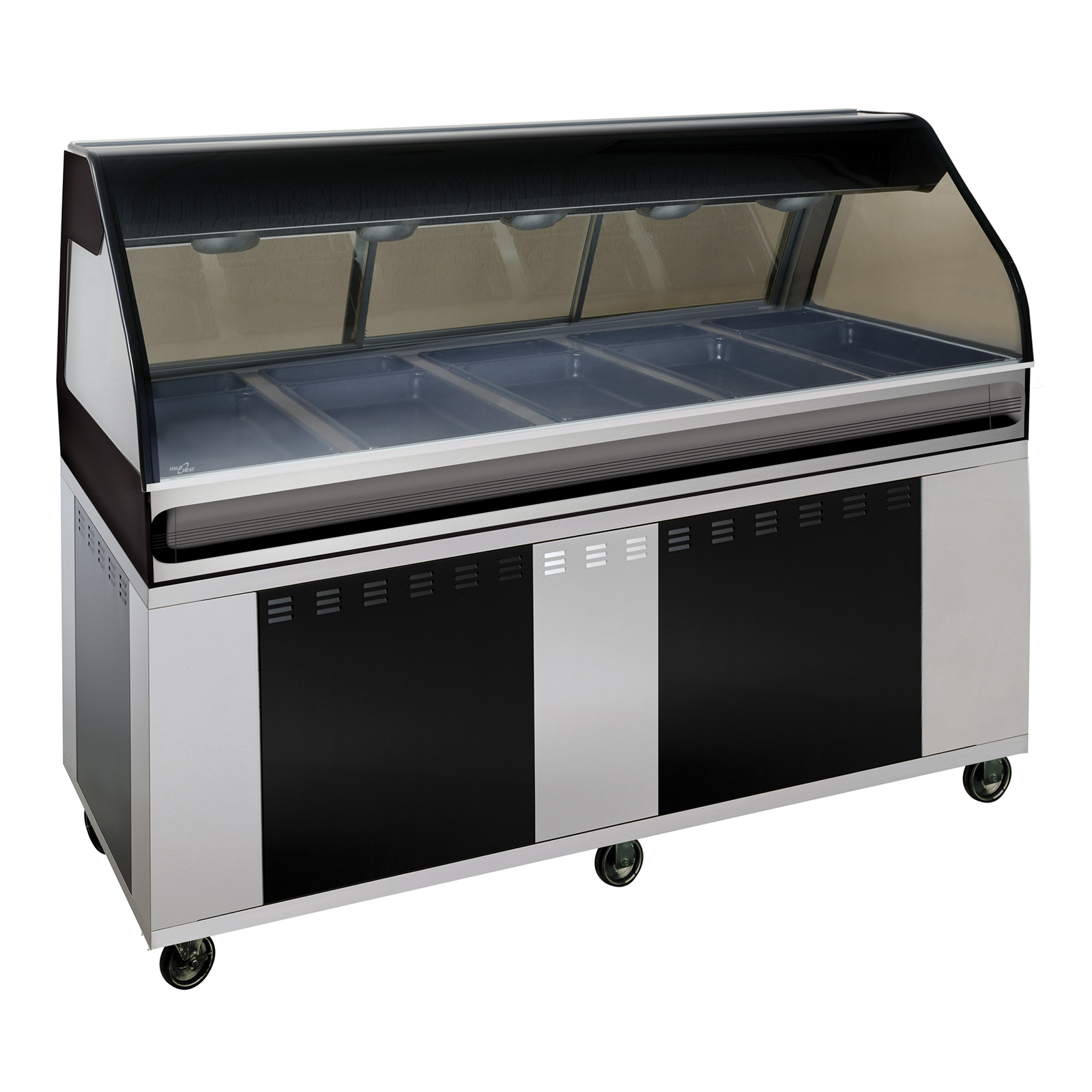 Alto-Shaam EU2SYS-72/P-BLK display case, heated deli, floor model