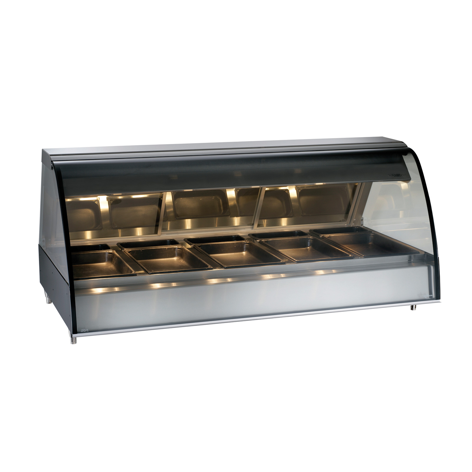 Alto-Shaam TY2-72/PR-BLK display case, heated deli, countertop