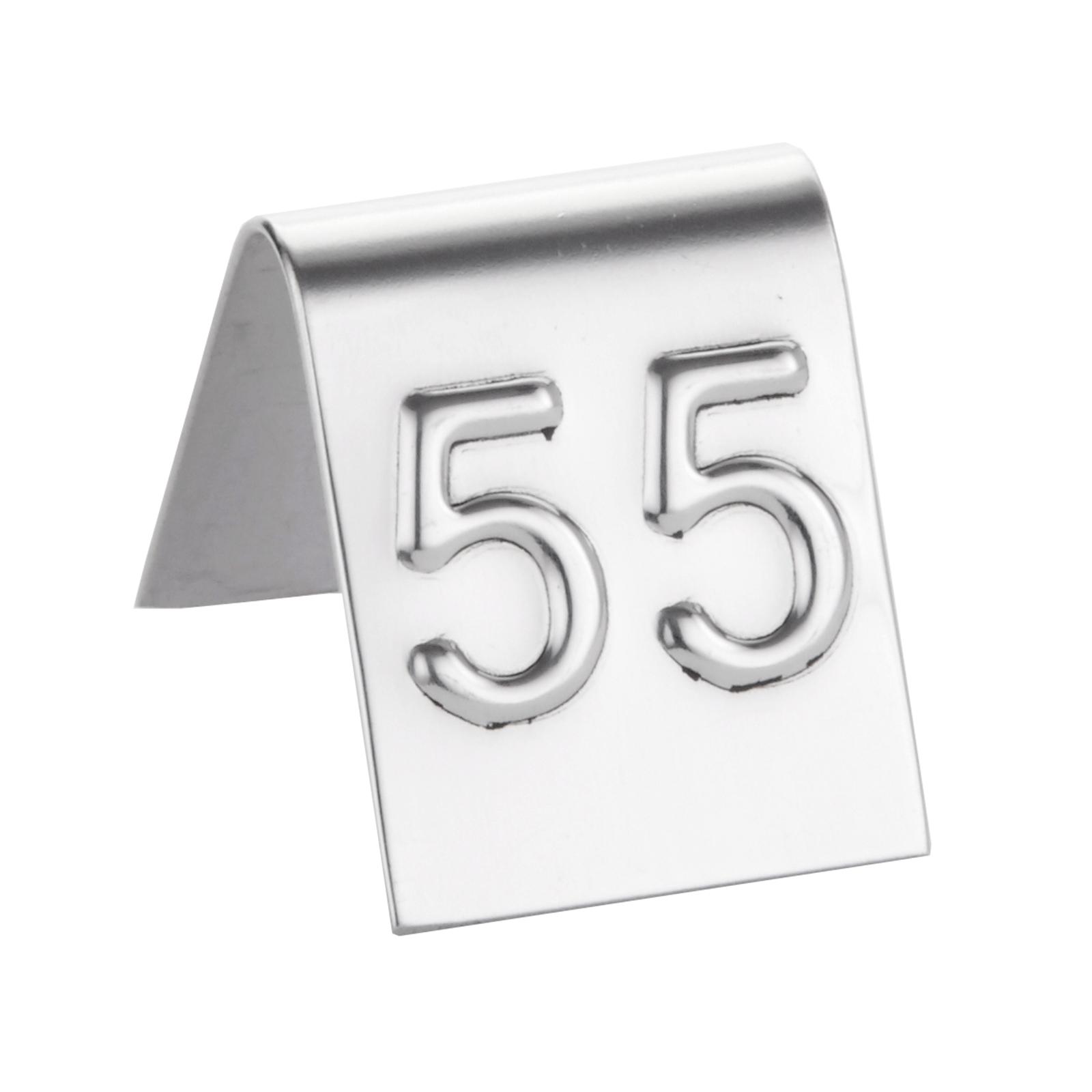 American Metalcraft EM125 tabletop sign, tent / number