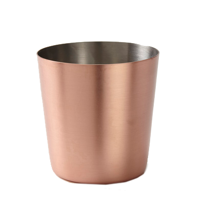 American Metalcraft FFCCS337 fry cup, copper, satin, straight-sided