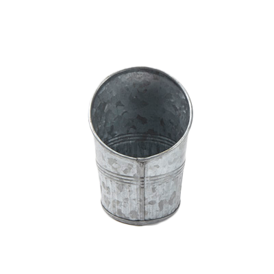 American Metalcraft GFC45 fry cup, galvanized, angled