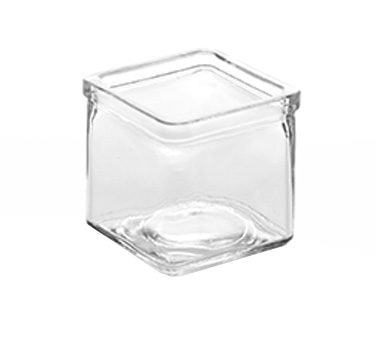 American Metalcraft GJ6 glass jar, square