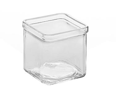 American Metalcraft GJ8 glass jar, square