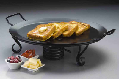 American Metalcraft GS81 round iron griddle