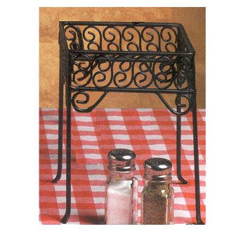 American Metalcraft PSS77 pizza stand, wrought iron, square scroll