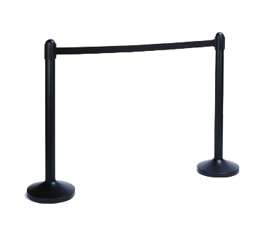 American Metalcraft RSBPBL crowd control stanchion, retractable