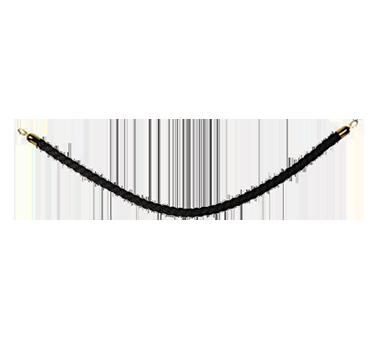 American Metalcraft RSCLRPGOBL barrier rope, braided, black