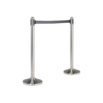 American Metalcraft RSRTGY crowd control stanchion, retractable
