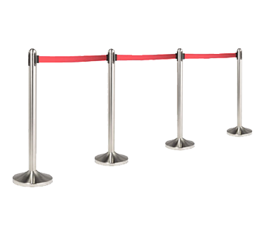 American Metalcraft RSRTRD crowd control stanchion, retractable