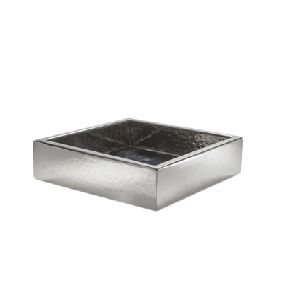 American Metalcraft SBHS crate, stainless steel, hammered