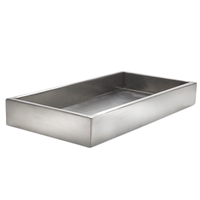 American Metalcraft SBL crate, stainless steel, satin, double wall