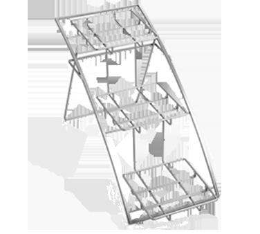 American Metalcraft TASMED stand, chrome, three-tier arch
