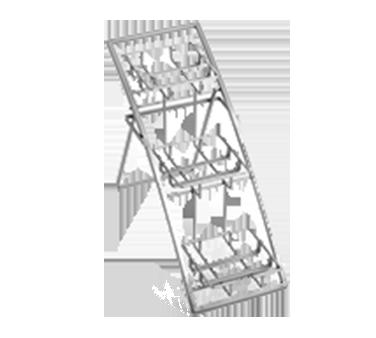 American Metalcraft TASSM stand, chrome, three-tier arch