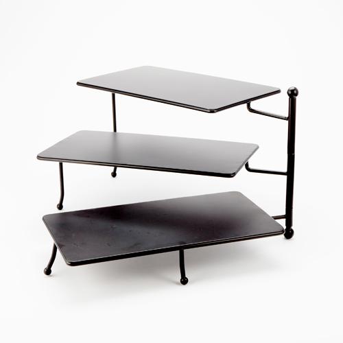 American Metalcraft TPREC3 stand, three-tier, rectangular, foldable