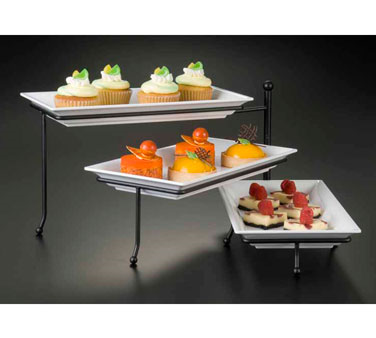 American Metalcraft TTMEL3 three-tier stand with (3) mel19 melamine platters
