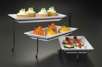 American Metalcraft TTREC3 three-tier stand only