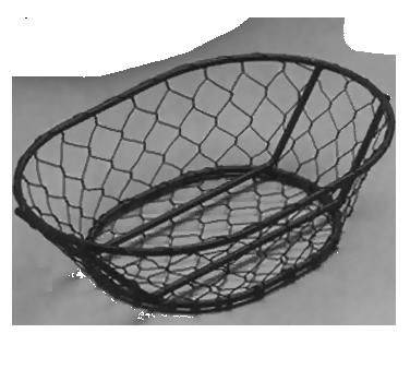 American Metalcraft WIR4 basket, tabletop, metal