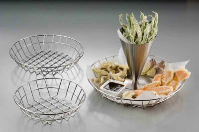 American Metalcraft WISS12 basket, tabletop, metal