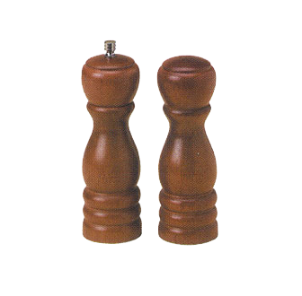 American Metalcraft WPMS62 salt / pepper shaker & mill set