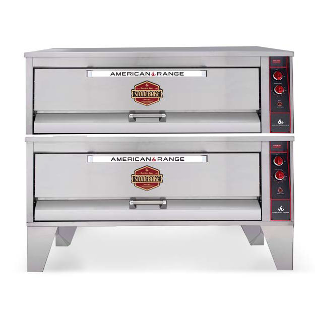 American Range A-602 pizza bake oven, deck-type, gas