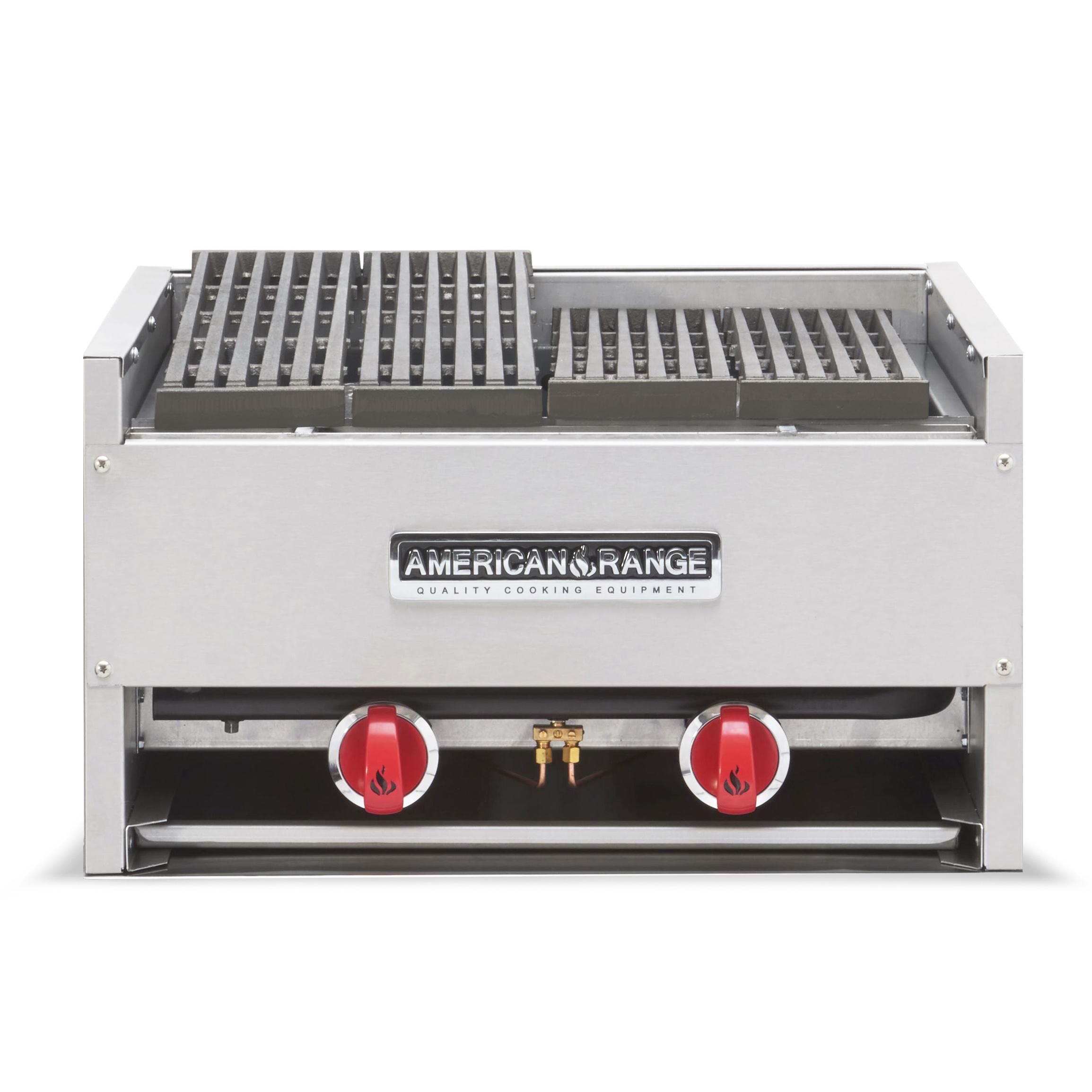 American Range AECB-74 charbroiler, gas, countertop
