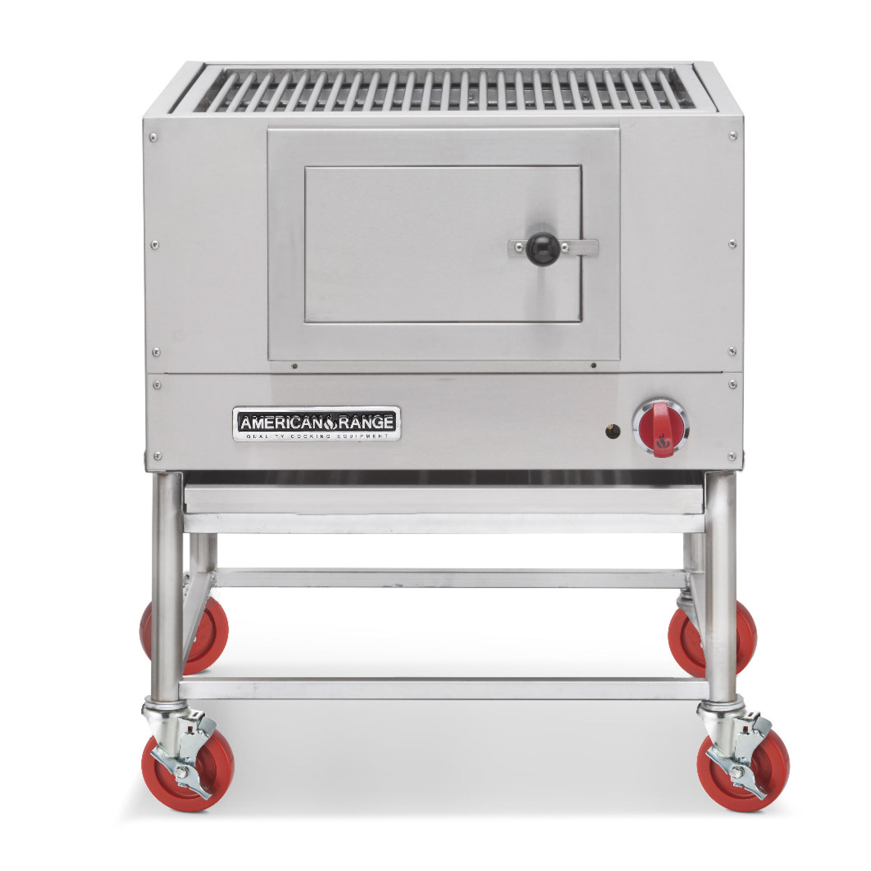 American Range AMSQ-60 charbroiler, wood burning