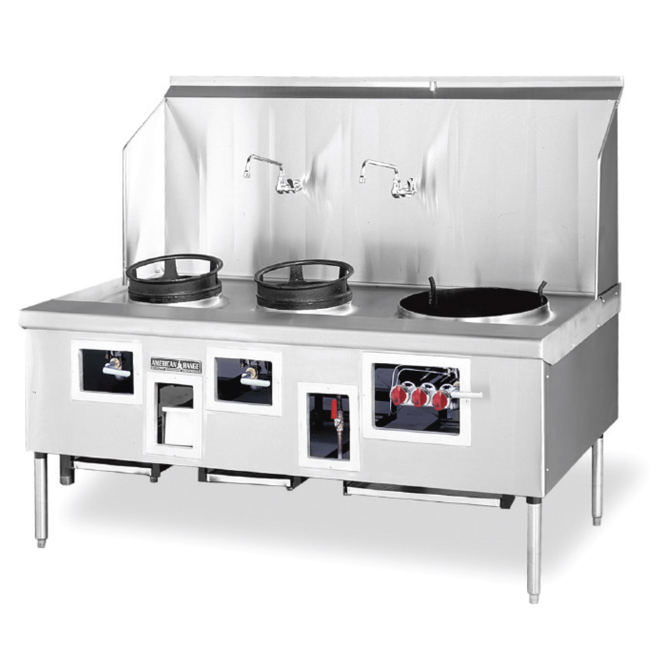 American Range ARCR-8 range, wok, gas