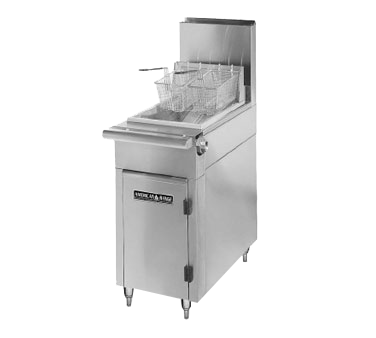 American Range HD17-50F fryer, gas, floor model, full pot