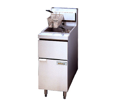 ANETS 14GS fryer, gas, floor model, full pot