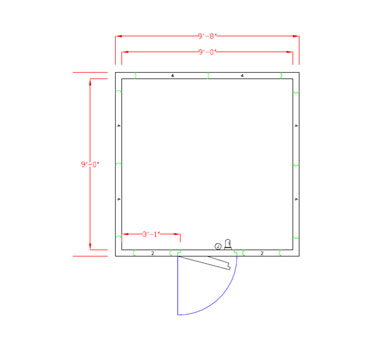 American Panel Corporation 10X10C-O walk in cooler, modular, remote