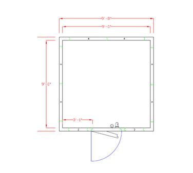 American Panel Corporation 10X10F-O walk in freezer, modular, remote