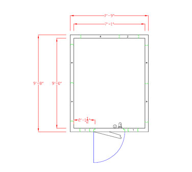 American Panel Corporation 8X10F-O walk in freezer, modular, remote